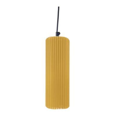 Exkluzív függesztett mennyezeti lámpa, 25 cm, cső alakú, napsárga - FUSEAU